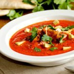 Red & Green Chicken Enchilada Soup