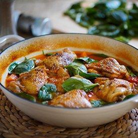 Garlic Spinach Tomato Chicken