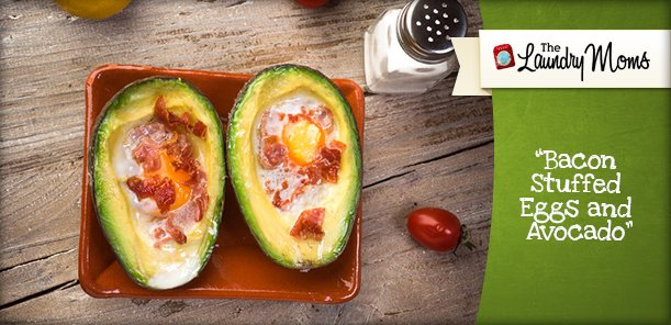 Bacon Stuffed Eggs and Avocado