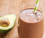 creamy chocolate chia smoothie